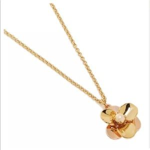 Kate Spade Flower Pendant Necklace Gold Plated